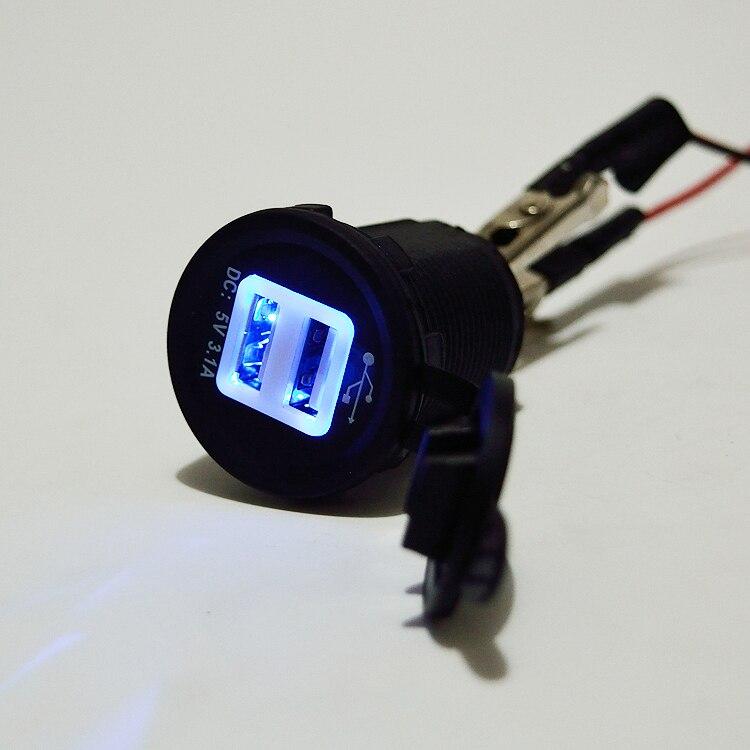 iztoss 5v 3 1a dual usb charger port t for motorbike motorcycle car rv boat in cigarette lighter. Black Bedroom Furniture Sets. Home Design Ideas