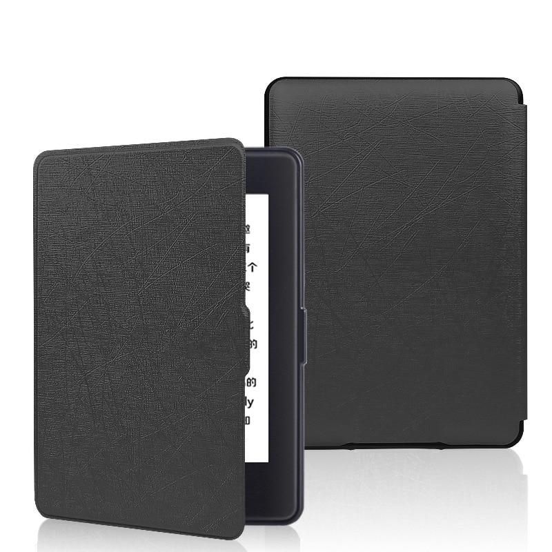 Couverture de Modèle en soie pour Amazon Kindle Paperwhite 1/2/3 PU En Cuir Smart Case pour Kindle 958 6' e-book avec Mise en Veille Automatique/réveil