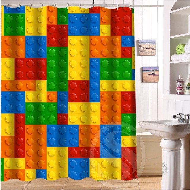Colored Fluorescent Color Decorative Pattern Custom Shower Curtain Bath  Curtain Waterproof Eco Friendly Shower Curtain