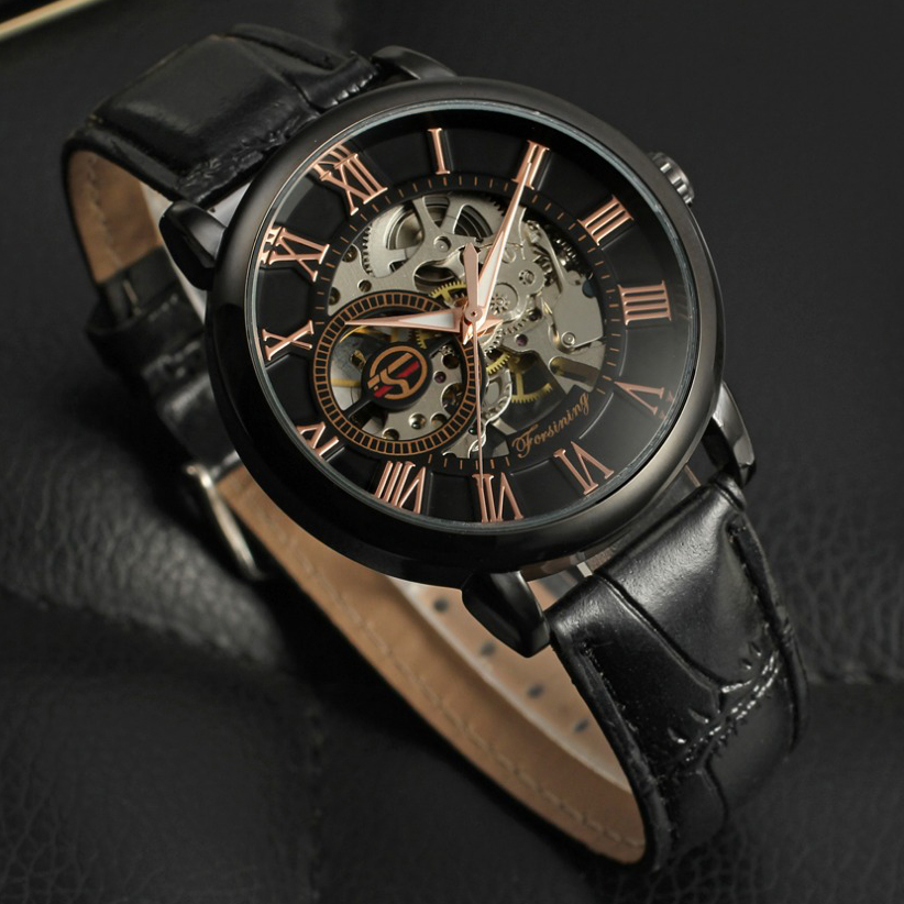 Forsining saat man hour clock Skeleton watches mechanical men luxury brand automatic leather watchband dress men's watch forsining brand trendy automatic mechanical watches men skeleton dial stylish dress wristwatches with leather band