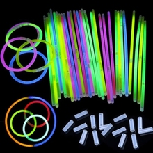100Pcs Colorful Glow Sticks Party Fluorescence Mix Colors Light Glow Sticks Bracelets Necklaces Neon For Wedding Glow Sticks цены онлайн