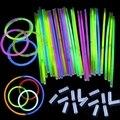 200Pcs/Lot Multi Color Fun Fluorescence Luminous Glow Stick Bracelets Necklaces Party Event Light Xmas Festivities Ceremony Toys