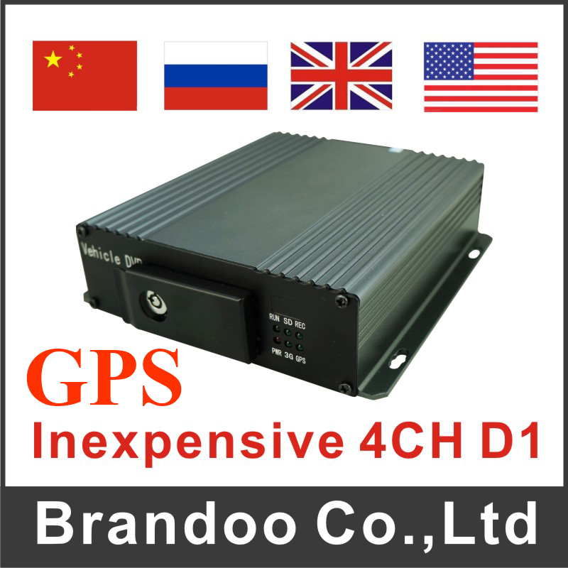 D1 H.264 4CH Mobile DVR For Taxi School Bus With GPS Function