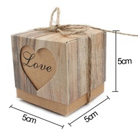 50pcs Lot New Romantic Heart Candy Box For Wedding Decoration Vintage Kraft Wedding Favors And Gifts