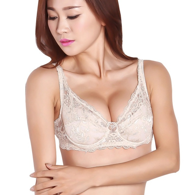 68aa5d88b56d8 Women Hot Sexy Push Up Embroidery Lace Non Padded Underwired Full Coverage  Sheer Bra