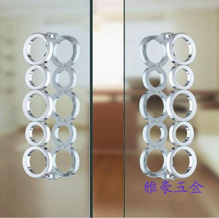 European nine ring door handle modern glass door handle luxurious wooden door handle Chinese ring big handle