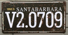 1 pc Santa Barbara California US car License plate Tin Plates Signs wall man cave Decoration Metal Art Vintage Poster