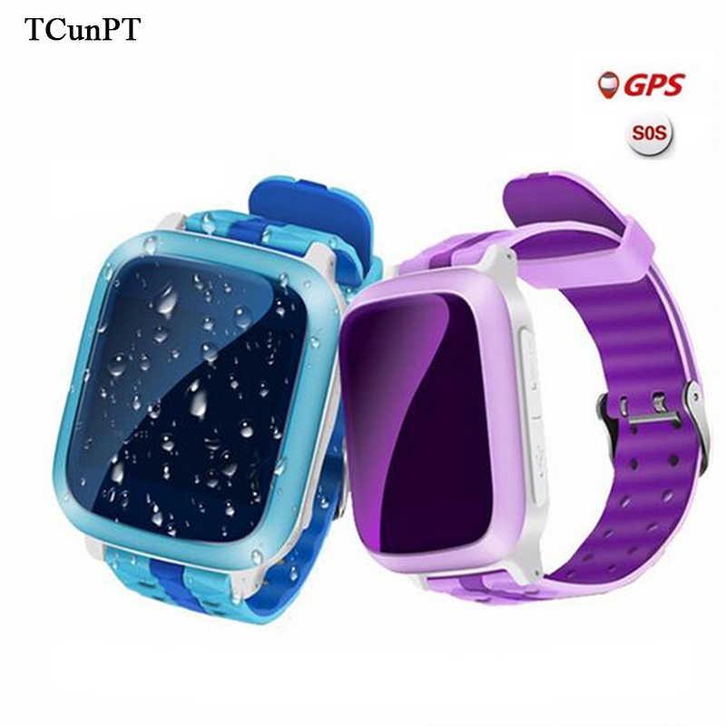 TCunPT смартфон, GPS часы для детей детские наручные часы DS18 GSM локатор WiFi трекер анти-потерянный SmartWatch ребенок PK Q80 Q90 V7K Q50