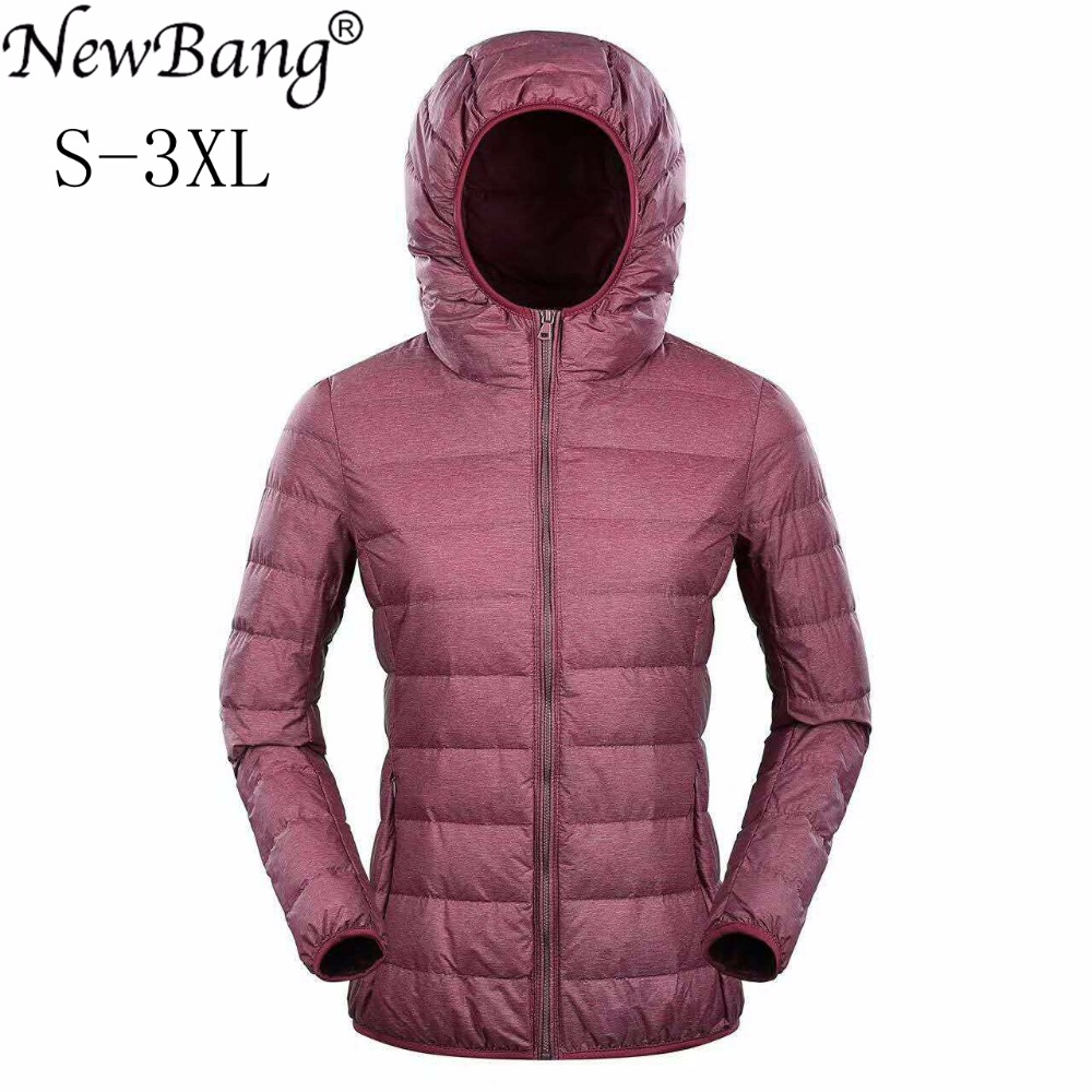 NewBang Ultra Light Down Jacket Women Duck Down Jacket Hooded Feather Coat Matt Windproof Thin Warm Light Weight Female Jackets