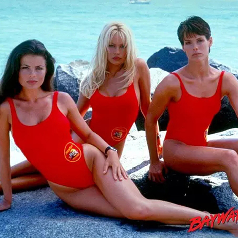 d96cebeaf5950 BFUSTYLE American BAYWATCH The Same One Piece Swimsuit Women Female ...