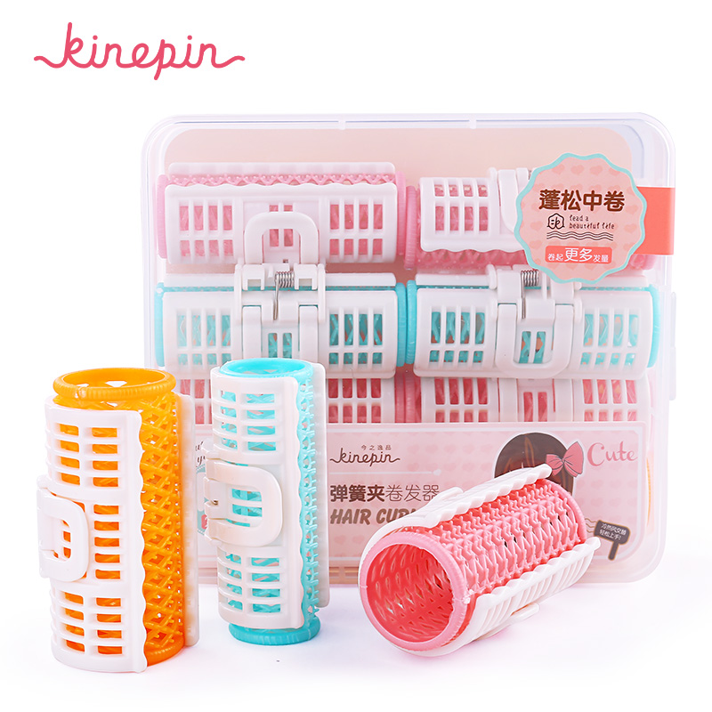 KINEPIN 6pcs/8pcs Hair Curler Spring Clip Curlers Magic Plastic DIY Hair Rollers Wavy Hairdressing Barber Hair Styling Tool coil hair tie 6pcs