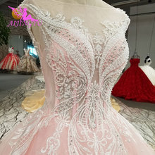 AIJINGYU Bolero Lace Ivory Long Bridal Gowns Wedding Dress