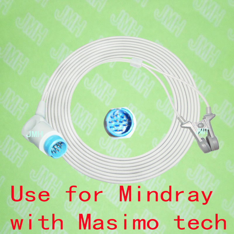 Compatible with 12 PIN Mindray PM 5000/6000 Oximeter monitor the Adult/Child ear clip spo2 sensor,with Masimo Tech.Compatible with 12 PIN Mindray PM 5000/6000 Oximeter monitor the Adult/Child ear clip spo2 sensor,with Masimo Tech.