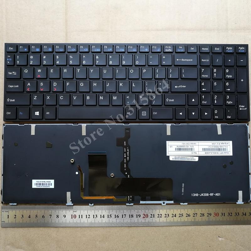 Ee.uu. retroiluminado nuevo teclado para Clevo P650 P650SA P650SE P650SG teclado 6-80-P6500-280-1 P650SE P650SG P670SE P670SG
