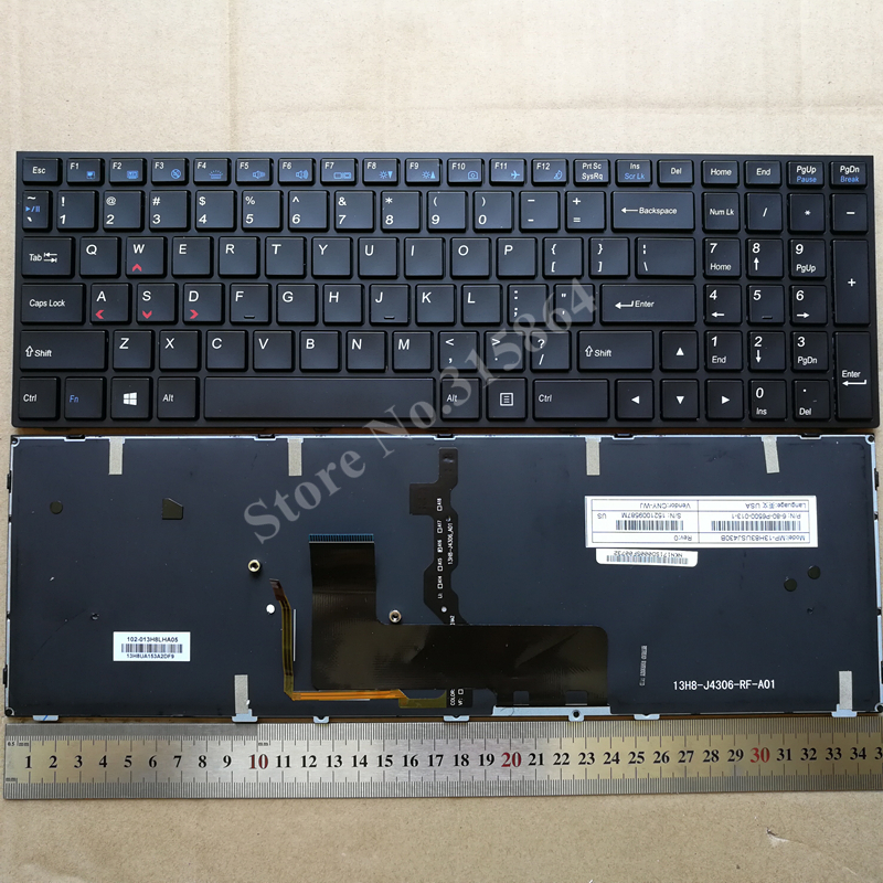 US backlit new keyboard for Clevo P650 P650SA P650SE P650SG Keyboard 6-80-P6500-280-1 P650SE P650SG P670SE P670SG