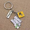 Game PS4 GTA 5 keychain Grand Theft Auto 5 Key Chains For Men Fans Xbox PC Rockstar Key Ring Holder Cosplay Jewelry Llaveros AD