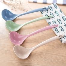 wheat straw spoon household long handle porridge kitchen plastic utensils thickened large