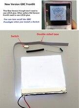 إصدار جديد من مجموعة إضاءة أمامية مصباح أمامي مصباح أمامي لجهاز GameBoy Color For GBC