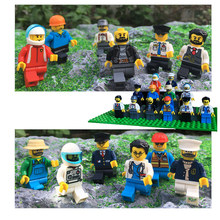 12pcs/lot Action Figures Building Blocks Figures Brick DIY Toys Compatible Legoed Figures Police Soldier Occupations For Gift(China)
