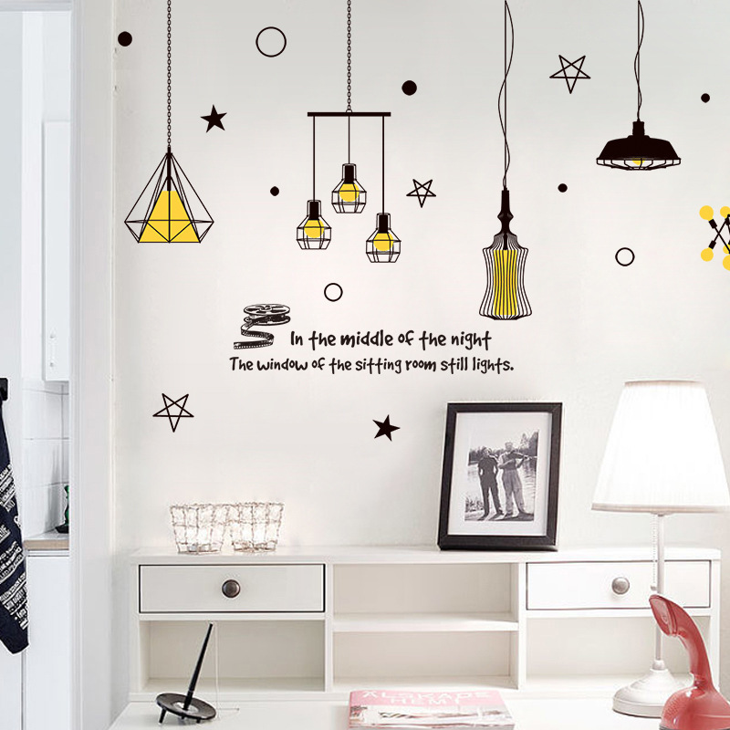 Pendant lamp wall sticker vinyl stickers chandelier wall decal diy pendant lamp wall sticker vinyl stickers chandelier wall decal diy home decor 6090 in wall stickers from home garden on aliexpress alibaba group mozeypictures Gallery