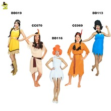 Sexy Women Jungle Caveman Savage Cosplay Carnival Costumes Stone Age Halloween Flintstone African Tribal Hunter Indian Clothing