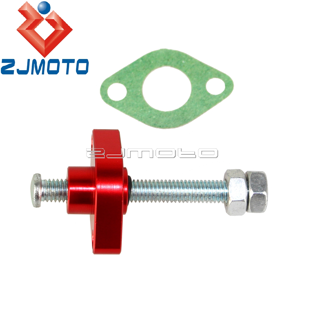 ZJMOTO New Red Street Manual Cam Timing Chain Tensioner For Yamaha 96 98  YZF 750 99 05 YZF 600R6 87 FZX 700 Fazor -in Crankshafts from Automobiles  ...