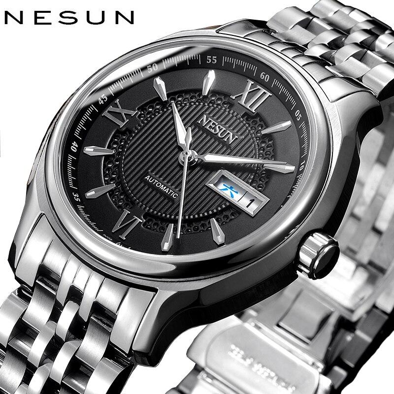 Switzerland Nesun Japan NH36A Auto Movement Watch Men Luxury Brand Men s Watches Sapphire Full Stainless
