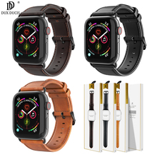 Original DUX DUCIS Genuine Leather Watch Band for Apple Series 4 3 2 1 Real Strap Buckle Iwatch 44 40 42 38 mm