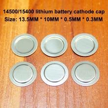 100pcs/lot 14500 Lithium-ion battery sheet Spot-welded cap Nickel-metal hydride nickel cadmium Stainless steel Negative film gp batteries nickel metal hydride series 970 mah
