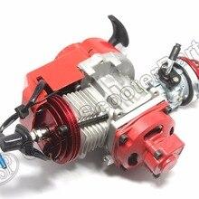 Гоночный 49CC двигатель Alu Pull Start 15 мм Карбюратор с ЧПУ воздушный фильтр Мини Мото Карманный квадроцикл Багги Dirt Pit Bike красный