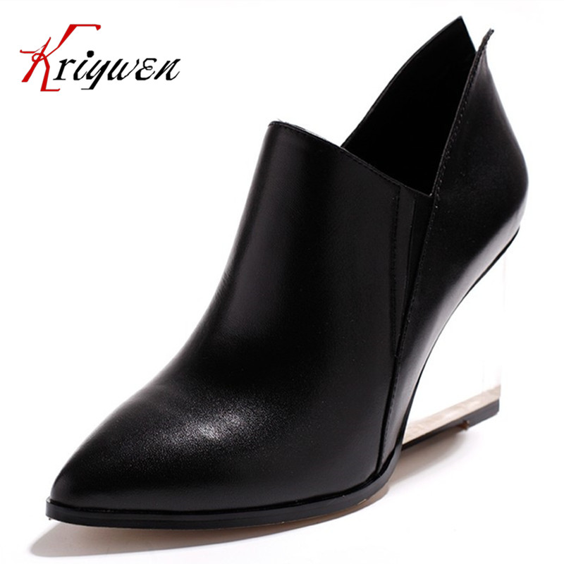 Big size 34-42 fashion sexy real leather women pumps 2016 new spring ladies crystal high heel shoes wedding party office shoes amourplato women s ladies handmade fashion big large size thick block heel closed toe high heel party office pumps chunky shoes