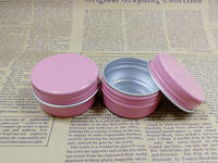 30G 30pcs 50pcs 100pcs Pink Round Aluminum Cream Jar Cosmetic DIY Mask Refillable Pot Aluminum Metal