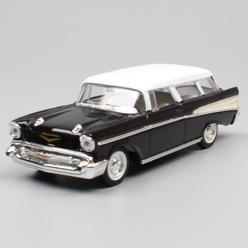 1/43 Scale classic 1957 Chevrolet Nomad sedan chevy wagon Van metal minicar diecast vehicles & car toys <font><b>models</b></font> for collector kid image