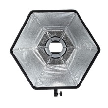 Selens fotografisk mjuklåda 50cm Hexagon Softbox med L-Shape Adapter Ring Photo Studio Tillbehör