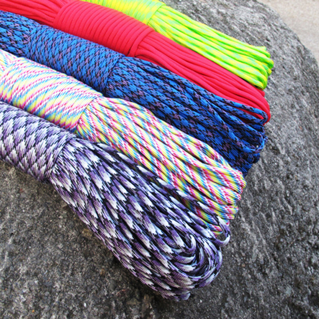 5 Meters  Dia.4mm 7 stand Cores Paracord for Survival Parachute Cord Lanyard Camping Climbing Camping Rope Hiking Clothesline 6