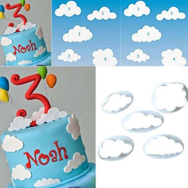 5 Teile Satz Kuchen Form Wolke Drehen Fondant Cutter Kuchen