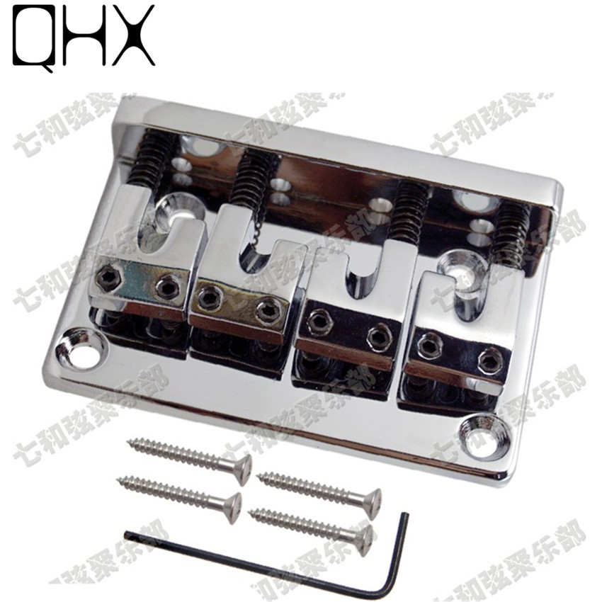 qhx silver zinc alloy 4 strings bass guitar bridge guitar parts musical instrument high quality. Black Bedroom Furniture Sets. Home Design Ideas