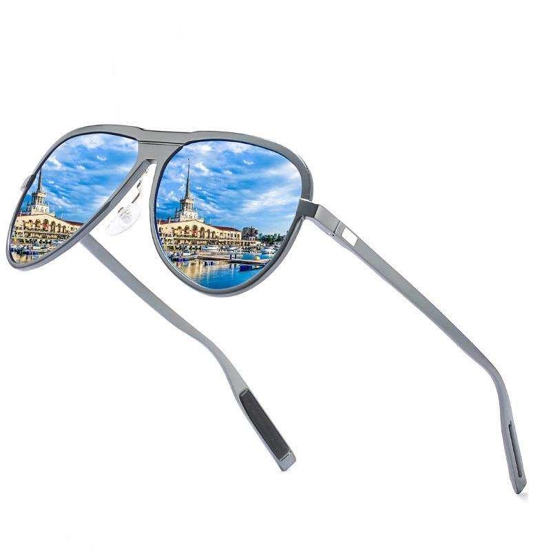 Ellen Buty Brand Designer Design Sunglasses Men Polarized Vintage Male Sun Glasses Oval Alloy Polaroid Driver