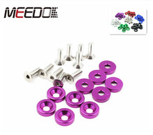 MEEDO High Quality Aluminum car Fender Washers and bolt 1set=10pcs Wash And Bolt