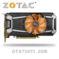 ZOTAC GTX 750TI OC 2GB GTX750TI GTX 750TI 2G D5 DDR5 128Bit PC Desktop Graphics Cards PCI Express 3.0 computer Video card HDMI