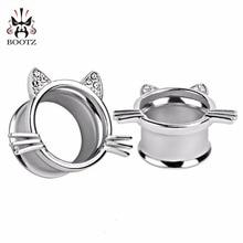 cat style fashion  ear tunnel plugs piercing