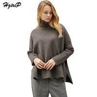 HziriP Autumn Winter 2017 Turtleneck Knitted Pullover Sweater Women Soft Jumper Pull Femme Long Sleeve Warm