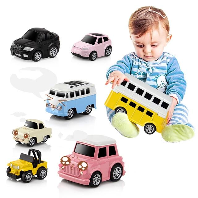 2018 New Arrive 8Pcs Alloy Pull-back Puzzle Mini Car Toy Simulation Q Version Vehicle Model Set for Children