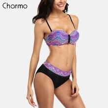 Женский комплект бикини с цветочным принтом charmo винтажный