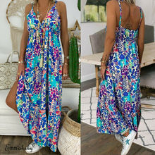 Women Sleeveless Bohemian Long Dress