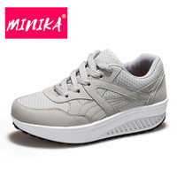 MINIKA New Arrival Casual Shoes Women Breathable Mesh Shoes Lace Up Canvas Shoes Women Weight Loss