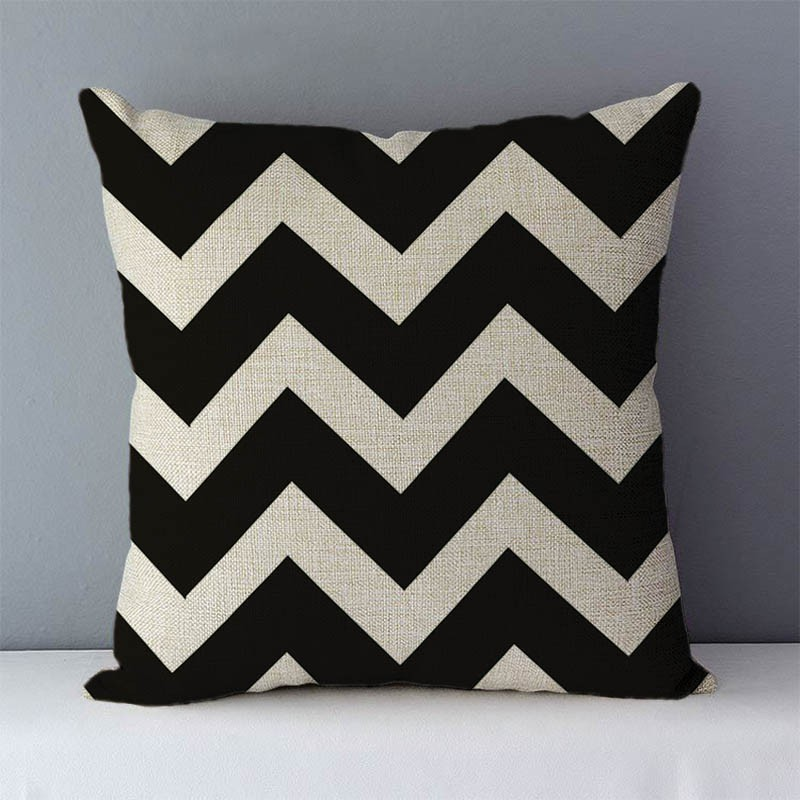 HTB1hFekXorrK1RkSne1q6ArVVXai Quality Cozy Popular geometric couch cushion home decorative pillows cotton linen 45x45cm seat back cushions bedding pillowcase