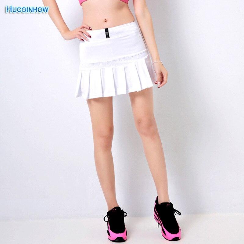 HUCOINHOW Womens Skirts Tennis Skorts Badminton Skirts Running Short Two Pieces High Waist Pleated Tennis Skirt for Girls