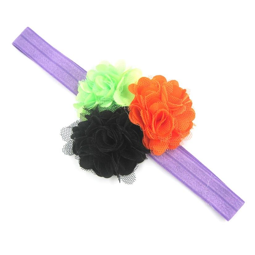 PARRY Best seller drop ship girls hairband hair accessories Baby Girl Newborn Toddler Halloween Flower Elastic Headband S65