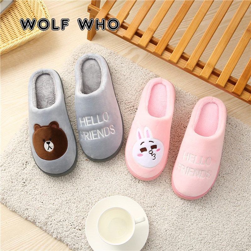 WOLF WHO New Soft Plush Men Slippers Plus Size Male Indoor Home Slippers Comfortable Winter Couple Warm Shoes Man Slippers X-176 new 2017 fashion flax slippers men summer couple indoor home slippers male comfortable floor slippers home men hemp slides